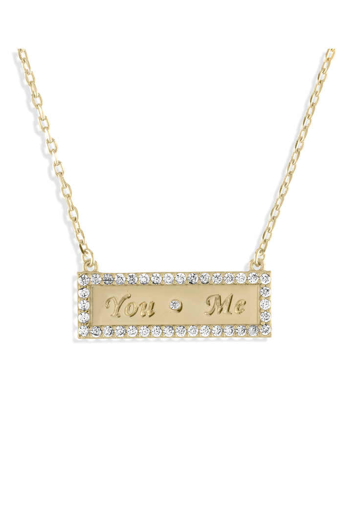 You & Me Bar Necklace