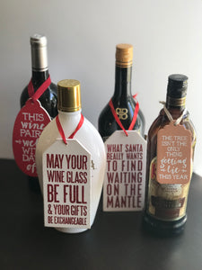 Holiday Wine Tags