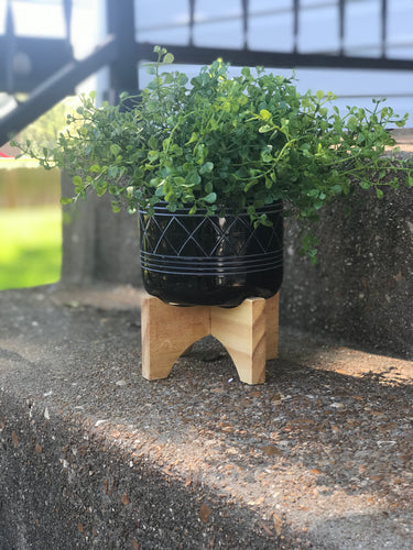 Mesa Planter on a Wooden Stand