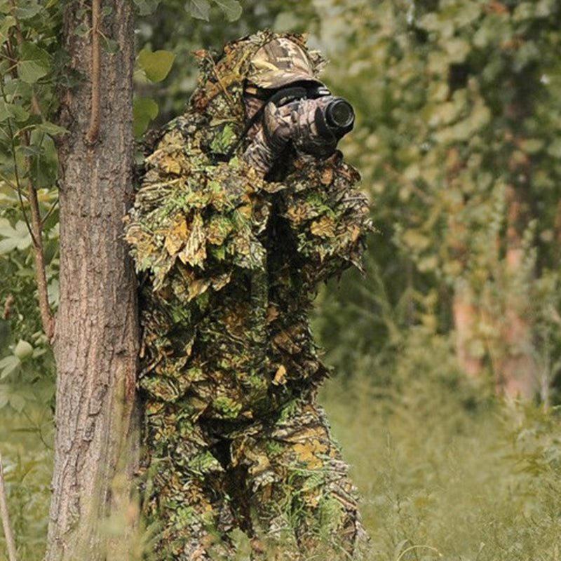 Bionic Ghillie Maple Leaf Camouflage Hunting Suit
