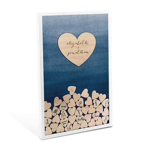 Fun Personalized Wedding Guest Book With Hearts