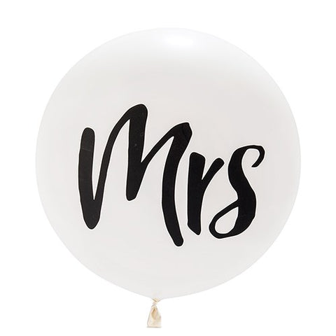 "Jumbo Balloon - ""Mrs"""
