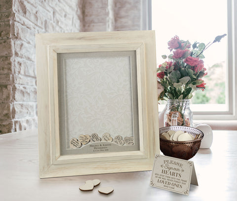 Drop Top Guest Signing Frame Scroll Name Personalization