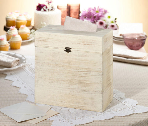 Rustic Wood Card Box