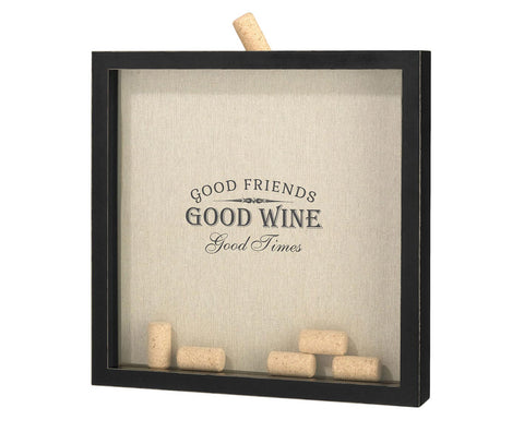 Good Friends, Good Times Wine Cork Holder Frame