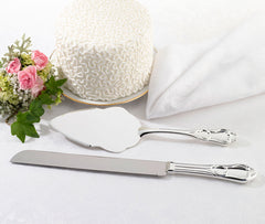Silver Knife & Server Set