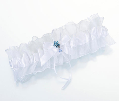 Something Blue Garter in White