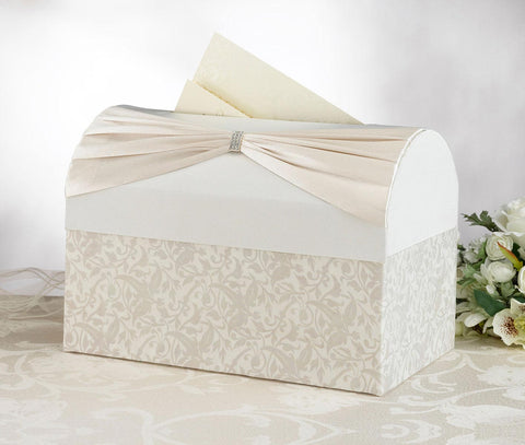 Ivory Satin Card Box
