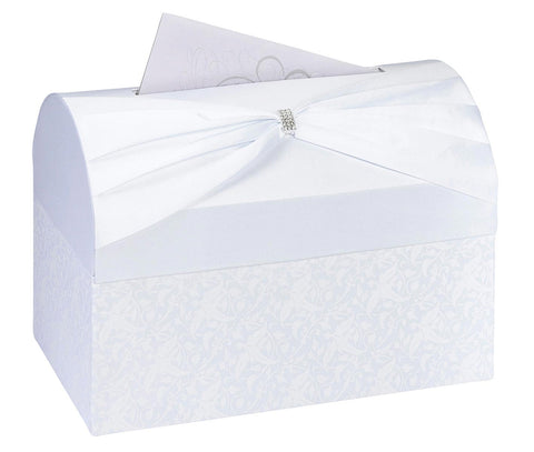 White Satin Card Box