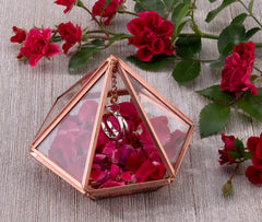 Copper Hanging Prism Ring Holder