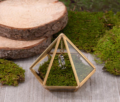 Gold Hanging Prism Ring Holder