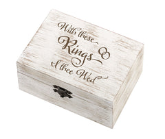 Rustic I Thee Wed Ring & Vow Box