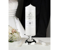 White Satin Candle Set
