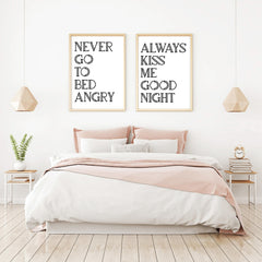 Always Kiss Me Good Night Print