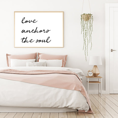 Love Anchors the Soul Print