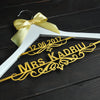 Image of Custom Wedding Hanger with Bow