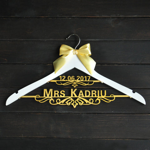 Custom Wedding Hanger with Bow