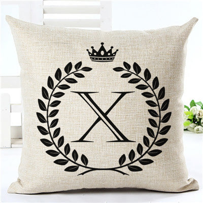 Initial Pillow Cover (A-Z)