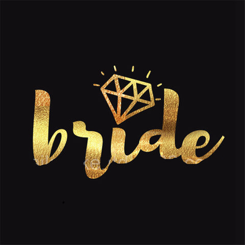 BRIDE | Bride Tribe | Team Bride Gold Temporary Tattoos (10 pcs)