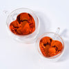 Image of Cup of Love | Heart-Shaped Glass Teacup (Set of 2)