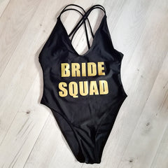 BRIDE SQUAD One-Piece Swimsuit