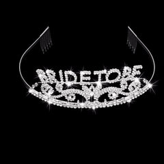 Rhinestone Bride to Be Tiara