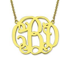 Script Monogram Pendant Necklace