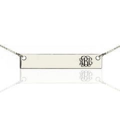 Monogram Bar Necklace