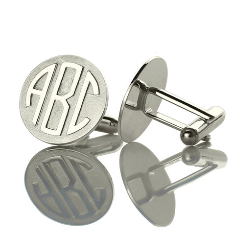 Block Monogram Cufflinks