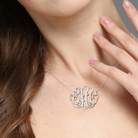 Flourish Monogram Pendant Necklace