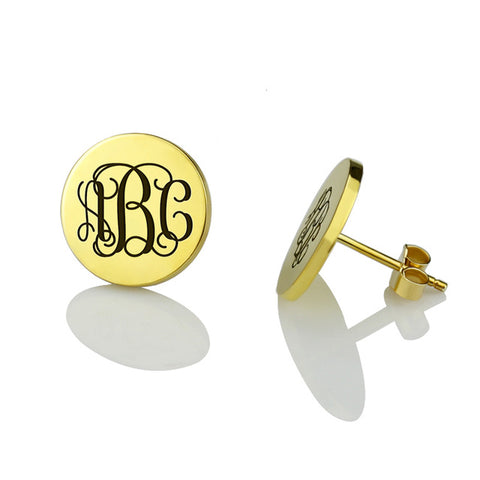 Monogram Stud Earrings