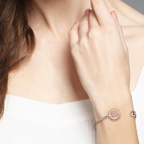 Monogram Disc Bangle