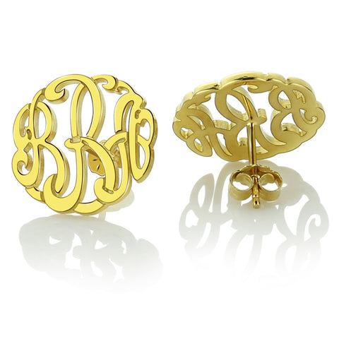 Flourish Monogram Stud Earrings