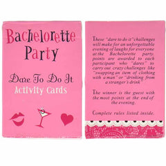 Truth or Dare Bachelorette Party Game Cards