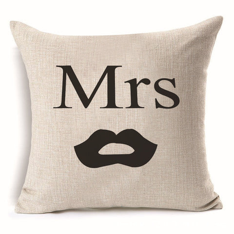 Mrs. | Mr. Pillow Cover