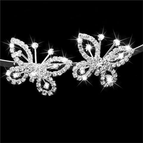 Butterfly Shaped Rhinestone Hairband
