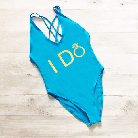 I DO & I DO CREW Swimsuit | Bride & Bridal Party