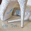 "Image of ""I Do"" & ""Me Too"" Rhinestone Shoe Sticker"