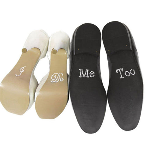 """I Do"" & ""Me Too"" Rhinestone Shoe Sticker"