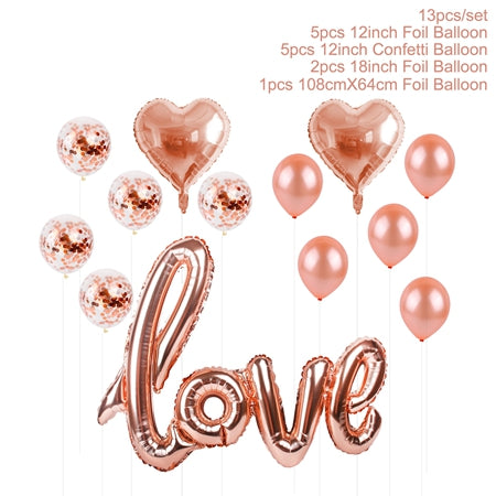 Romantic Foil Balloon Bundles