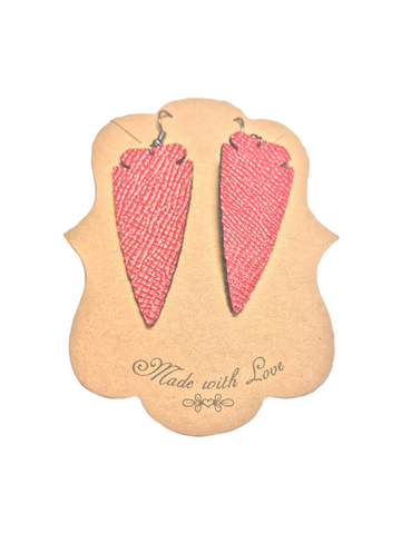 Handmade Authentic Leather Earrings