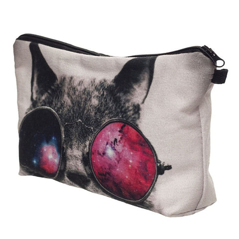 Cute Make Up Travel Cosmetic Makeup Bag - Panthera