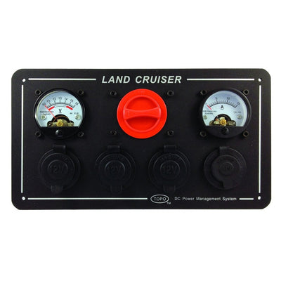 Bainbridge Landcruiser Power Panel with Volts/Amps and Marine Grade Outlets