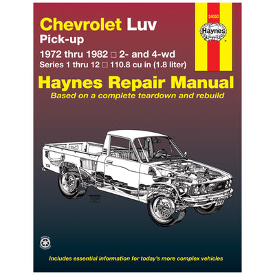 HAYNES Repair Manual 24050 Chevrolet Luv Pick-up (1972-1982) Petrol