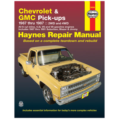 HAYNES Repair Manual 24064 Chevrolet & GMC 4.3L V6 V8 Pick-Ups 67-87 (USA)