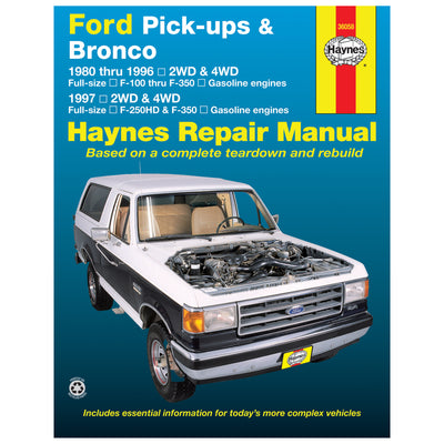 HAYNES Repair Manual 36058 Ford F-100-F-350 Bronco 80-96 F-250HD F-350 97 (USA)