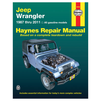 HAYNES Repair Manual 50030 Jeep Wrangler 4Cyl 6Cyl 2WD 4WD (1987-2011) (USA)