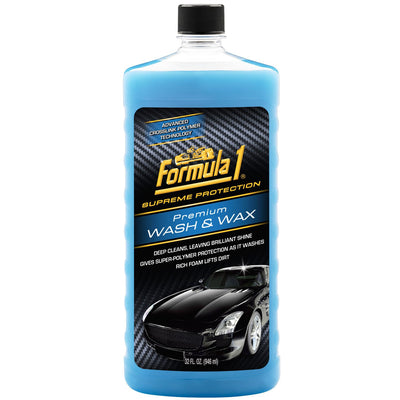Formula 1 Premium Wash & Wax Brilliant Shine Super-Polymer Deep Clean 517377