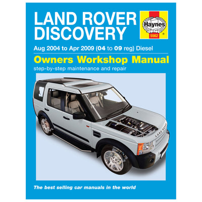 HAYNES Repair Manual 5562 Land Rover Discovery Diesel (Aug 04 - Apr 09)