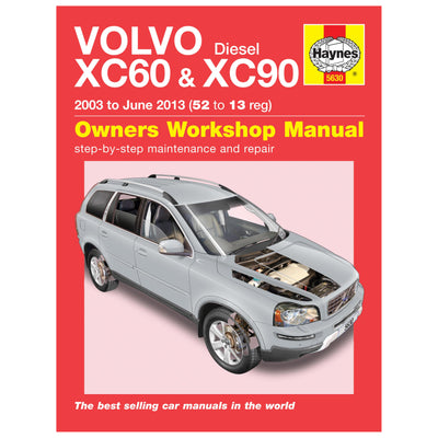 HAYNES Repair Manual 5630 Volvo XC60 & XC90 Diesel (03 - 13)